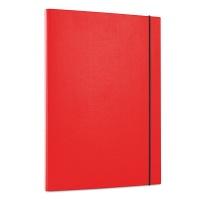 Teczka z gumką OFFICE PRODUCTS, PP, A4/15, 3-skrz., czerwona, Teczki przestrzenne, Archiwizacja dokumentów