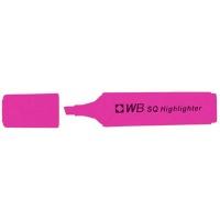 Zakreślacz fluorescencyjny WB SQ, różowy, Textmarkery, Artykuły do pisania i korygowania
