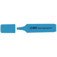 Zakreślacz fluorescencyjny WB SQ, niebieski, Textmarkery, Artykuły do pisania i korygowania