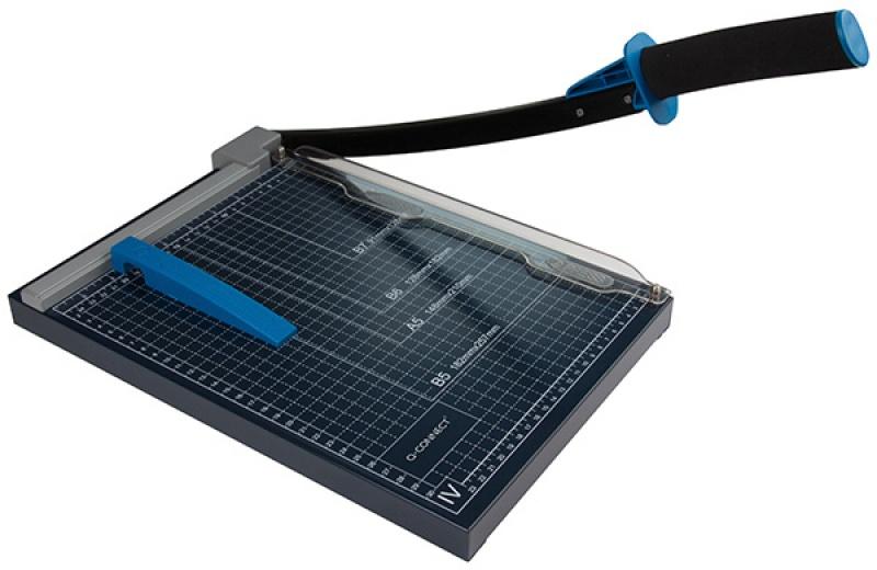 Gilotyna do papieru Q-CONNECT, A4, dł. Cięcia 30cm, czarna, Przycinarki i gilotyny, Urządzenia i maszyny biurowe