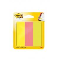 Zakładki indeksujące POST-IT® (671/3), papier, 26x76mm, 3x100 kart., mix kolorów, Bloczki samoprzylepne, Papier i etykiety