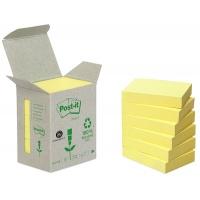 Bloczki ekologiczne POST-IT® (653-1B), 38x51mm, 6x100 kart., żółte, Bloczki samoprzylepne, Papier i etykiety