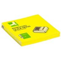 Bloczek samoprzylepny Q-CONNECT Brilliant Z-Notes, 76x76mm, 100 kart., jasnożółty, Bloczki samoprzylepne, Papier i etykiety