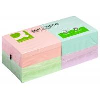 Bloczek samoprzylepny Q-CONNECT Rainbow, 76x76mm, 4x3x80k, pastel, mix kolorów, Bloczki samoprzylepne, Papier i etykiety