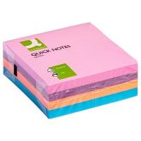 Kostka samoprzylepna Q-CONNECT, 76x76mm, 4x80 kart., mix kolorów, Bloczki samoprzylepne, Papier i etykiety