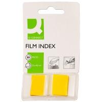 Zakładki indeksujące Q-CONNECT, PP, 25,4x43,7mm, 50 kart., żółte, Zakładki indeksujące, Papier i etykiety