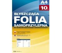 Samoprzylepna folia do drukarek atramentowych przezroczysta błysk op/10szt., Folie samoprzylepne, Papier i etykiety