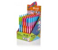 Długopis automatyczny trójkątny Zenith Simple Colorful display 36 sztuk, Długopisy, Artykuły do pisania i korygowania