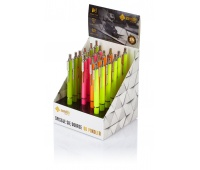 Długopis automatyczny Zenith 7 Fluo - display 20 sztuk mix kolorów, Długopisy, Artykuły do pisania i korygowania