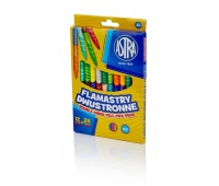 Flamastry dwustronne Astra 12 sztuk = 24 kolory, Plastyka, Artykuły szkolne