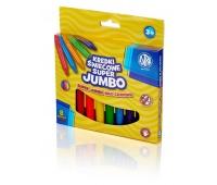 Kredki świecowe super Jumbo 8 kolorów - 14mm/100mm, Plastyka, Artykuły szkolne
