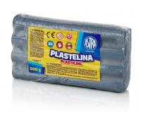Plastelina metaliczna Astra 500g srebrna, Produkty kreatywne, Artykuły szkolne
