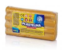 Plastelina metaliczna Astra 500g złota, Produkty kreatywne, Artykuły szkolne