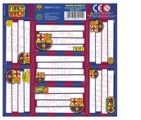 NALEPKI NA ZESZYTY FC BARCELONA, Produkty kreatywne, Artykuły szkolne