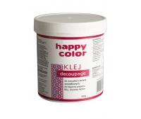 Klej do decoupage, wiaderko 500g, Happy Color, Produkty kreatywne, Artykuły szkolne