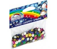 Cekiny confetti kółko łamane Fiorello GR-C14-7, Akcesoria, Artykuły dekoracyjne