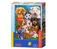 Puzzle 300 B-030323 Puppies, Puzzle, Zabawki