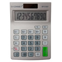 Desktop Calculator Q-CONNECT, 10-digit, 102x140 mm, grey