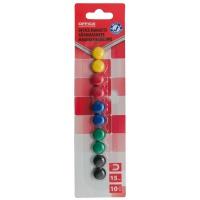 Magnesy do tablic OFFICE PRODUCTS, okrągłe, średnica 15mm, 10szt., blister, mix kolorów, Bloki, magnesy, gąbki, spraye do tablic, Prezentacja