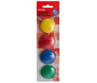 Magnesy do tablic OFFICE PRODUCTS, okrągłe, średnica 40mm, 4szt., blister, mix kolorów, Bloki, magnesy, gąbki, spraye do tablic, Prezentacja
