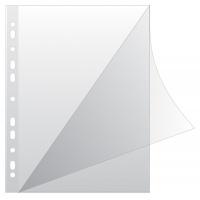 Koszulki na dokumenty Q-CONNECT, typ L, PP, A4, krystal, 100mikr., 100szt., transparentna, Koszulki i obwoluty, Archiwizacja dokumentów