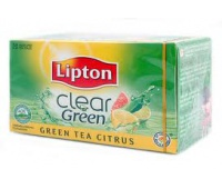 HERBATA LIPTON GREEN TEA CITRUS, Herbata, kawa, Artykuły spożywcze