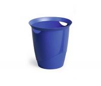 KOSZ NA ŚMIECI DURABLE TREND 16L NIEBIESKI, Kosze plastik, Wyposażenie biura