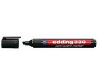 MARKER EDDING PERMANENTNY K.ŚCIĘTA 1-5mm CZARNY, Markery, Artykuły do pisania i korygowania