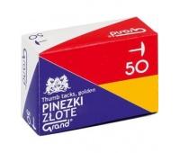 PINEZKI GRAND G50 ZŁOTE /1 OP-50szt, Pinezki, Drobne akcesoria biurowe