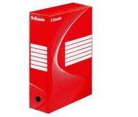 Pudło archiwizacyjne Esselte Standard, 100 mm, Czerwony, Pudła archiwizacyjne, Archiwizacja dokumentów
