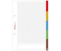 Wkład do segregatora A5 50 # LUX z kolorowymi registrami, Wkłady do segregatora, Papier i etykiety