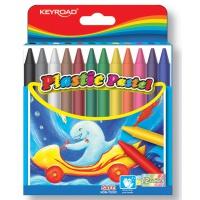 Kredki woskowe KEYROAD, sześciokątne, 12szt., mix kolorów, Plastyka, Artykuły szkolne