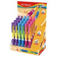Ołówek automatyczny KEYROAD Easy Writer, 0,7mm., pakowany na displayu, mix kolorów, Ołówki, Artykuły do pisania i korygowania